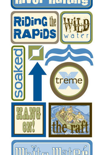 River Rafting Stickers