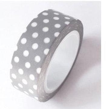 Grey w White Dots Washi Tape