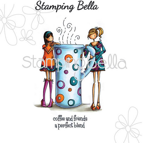 Clarissa and Camille Share a Cafe Cling Rubber Stamp Set