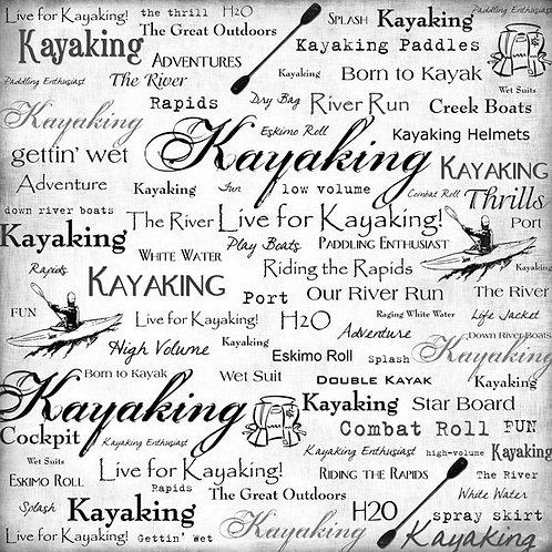 Live for Kayaking Paper