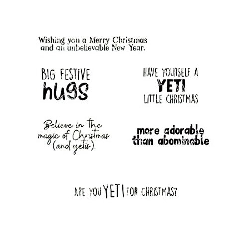 Yeti Sentiment Cling Rubber Stamp Set