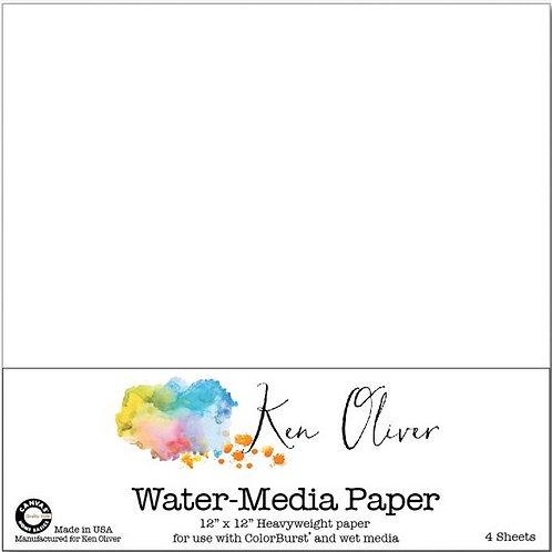 Ken Oliver Water Media Paper
