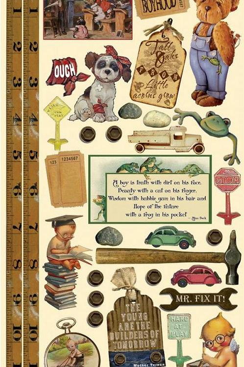 Little Boys Vintage Stickers
