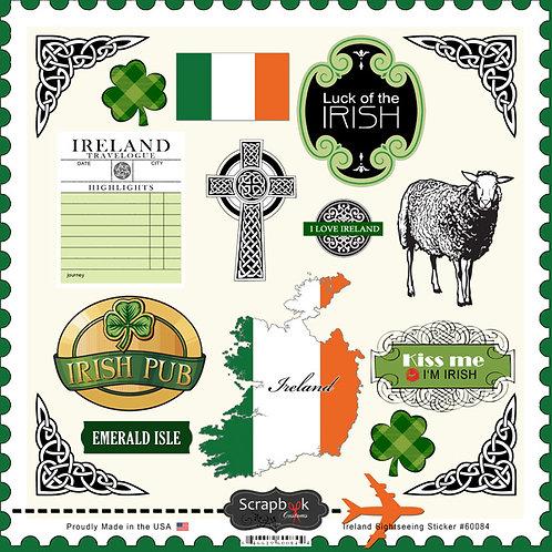 Ireland Sightseeing Sticker Sheet