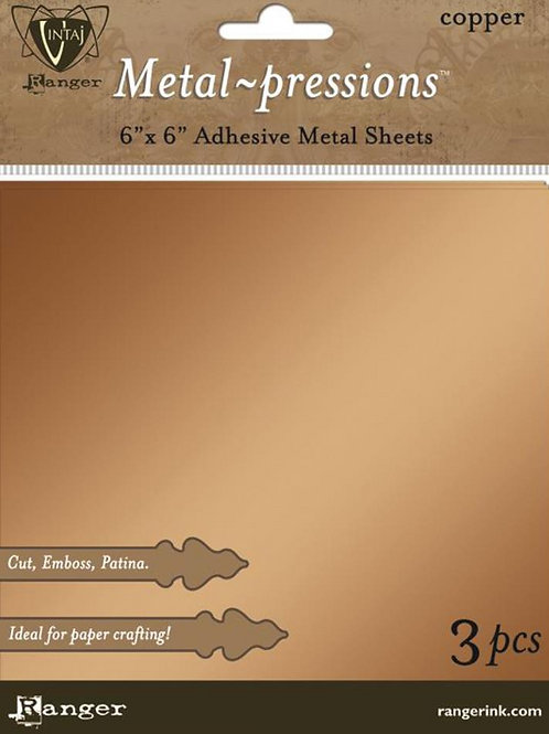 Metal-pressions Adhesive Metal Sheets, Copper