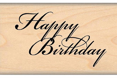 Happy Birthday, Wood Mounted Stamp