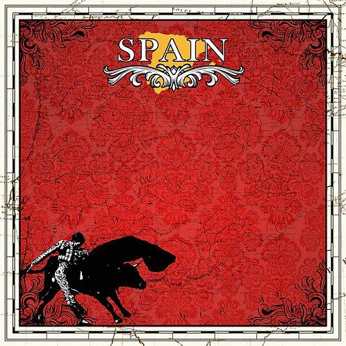 Spain Sightseeing Cardstock