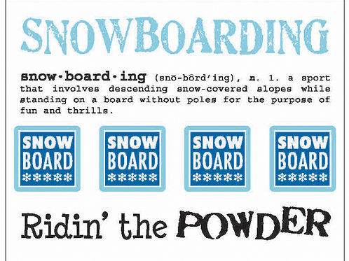 Snowboarding, Say it with Stickers
