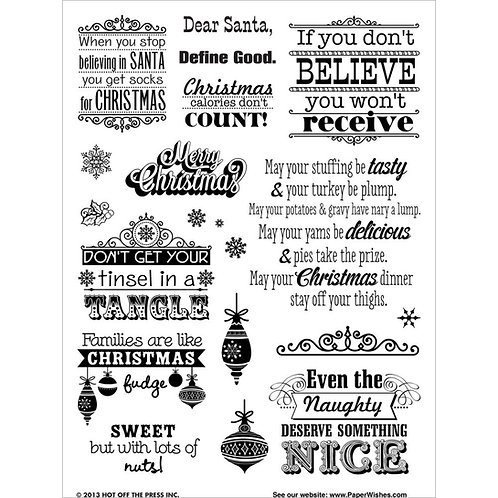 Naughty and Nice Clear Stamp Set