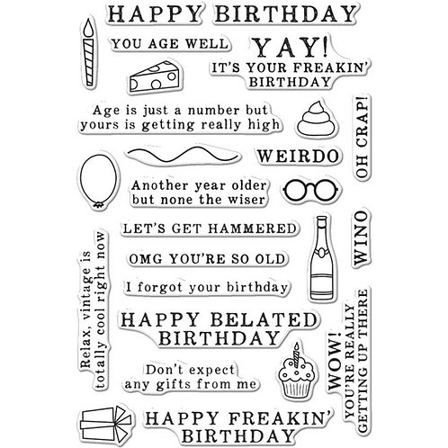 Irreverent Birthday Messages Clear Stamp Set