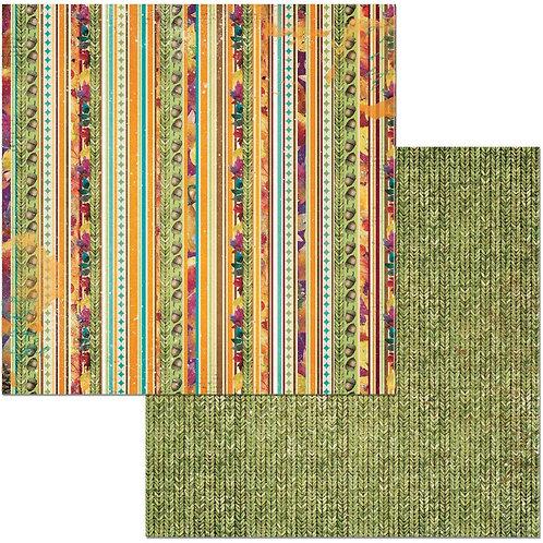 Dreams of Autumn Stripe Cardstock