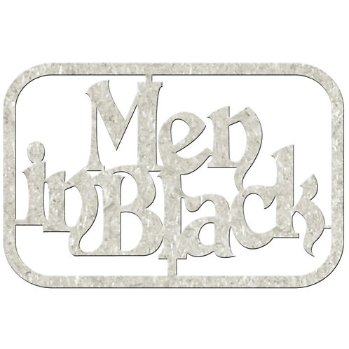 Men in Black Chipboard Embellishment