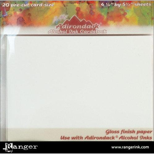 Alcohol Ink Gloss Cardstock 20pk