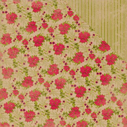 Tidings Poinsettia Cardstock 7