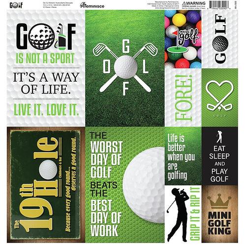 Golf Poster Sticker Sheet