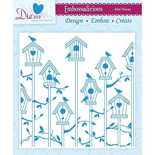 Bird Houses Embossing Folder