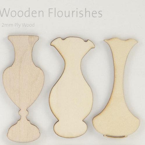 Wooden Flourishes, Vases
