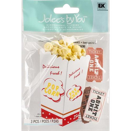 Movie Popcorn Dimensional Embellishments