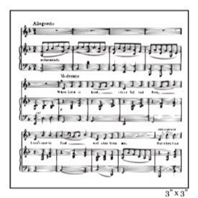 Sheet Music Clear Stamp