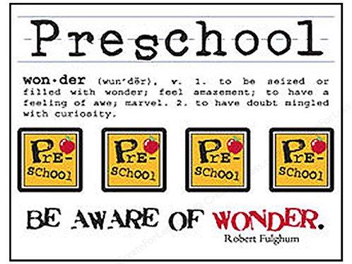 Preschool Clear Stickers