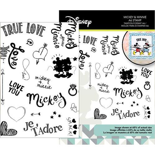 Mickey Vintage True Love Stamp Set