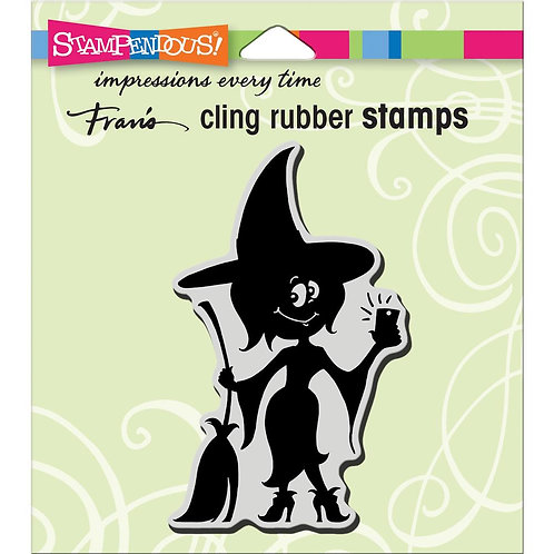 Witch Selfie Cling Rubber Stamp