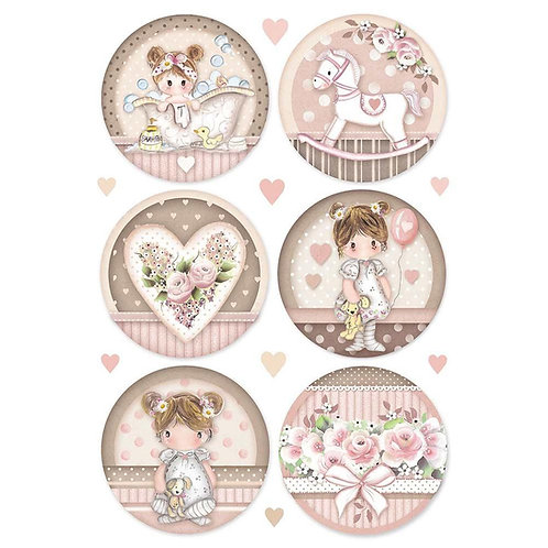 Stamperia Girl Rounds Rice Paper