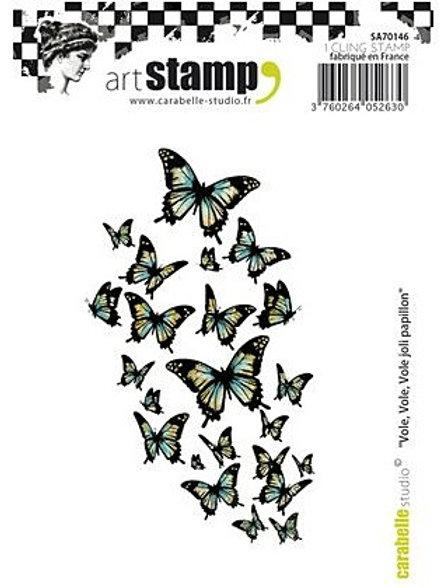 Rubber Stamp, Vole, Vole, Vole joli papillon