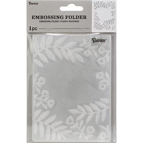 Darice Embossing Folder Flowers and Leaves