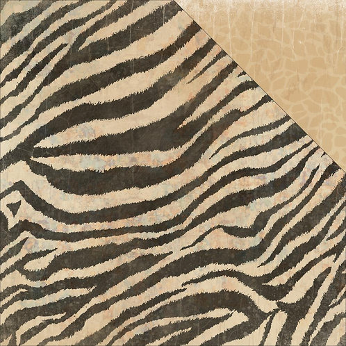 Into the Wild Zebra Cardstock