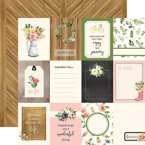 Spring Market 3x4 Journaling Cards Cardstock