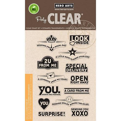 Envelope Art Clear Stamp Set