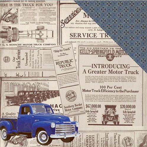 Rugged Old Truck Cardstock 7