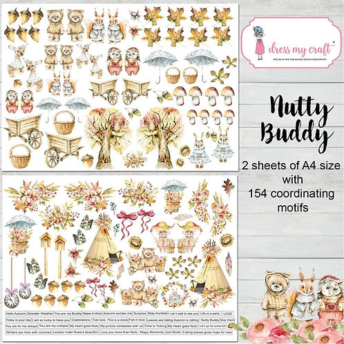 Nutty Buddy Motif Image Sheets (2pk)