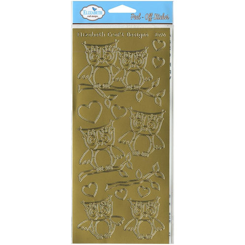 Owls Peel Off Stickers Gold