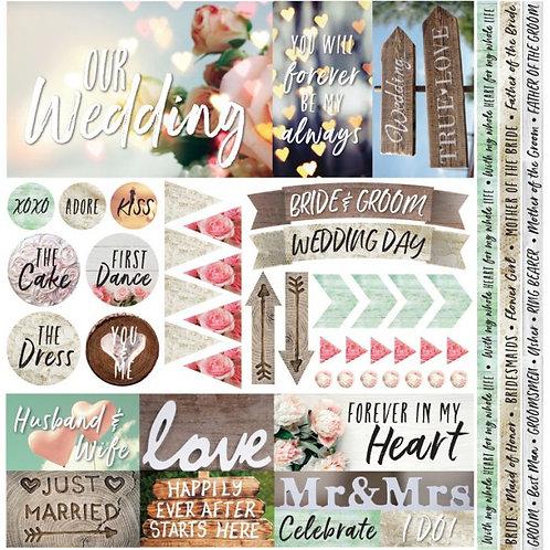 Modern Wedding Element Sticker Sheet