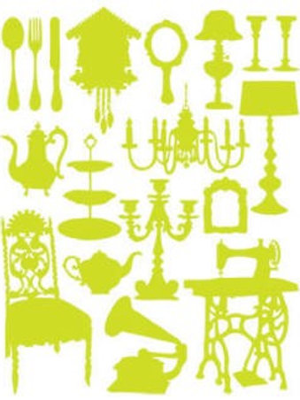 Hambly Screen Print Silhouettes in Lime