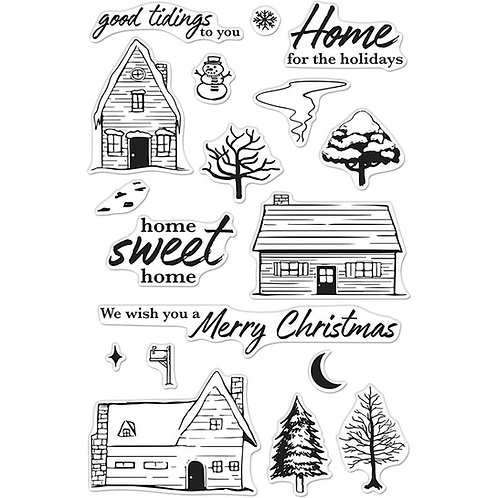 Hero Arts Home for the Holidays Clear Stamp Set