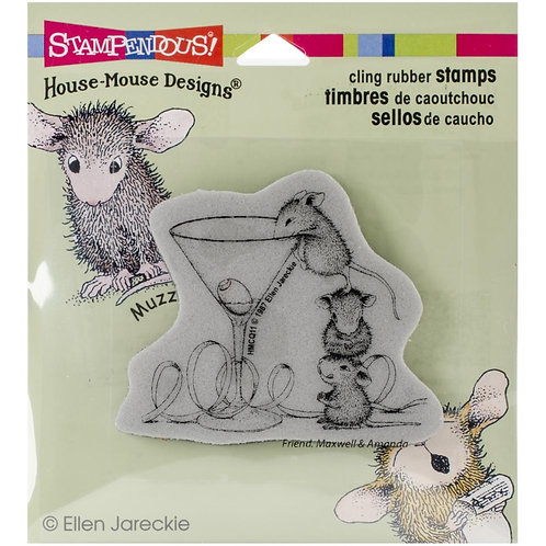 Martini Mice Cling Rubber Stamp Set