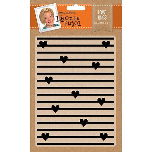 Love Lines 5x7 Embossing Folder