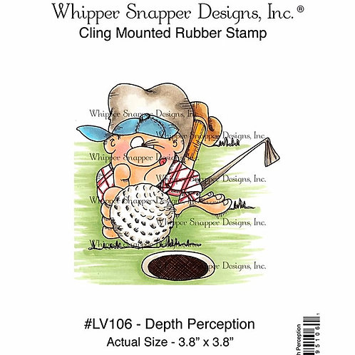 Depth Perception Cling Rubber Stamp