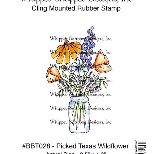 Picked Texas Wildflower Cling Rubber Stamp