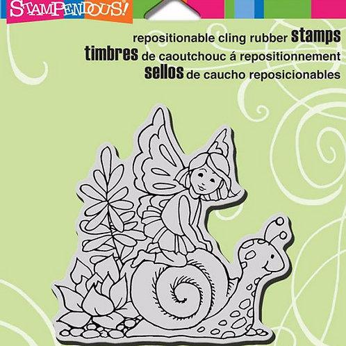 Garden Snail Cling Stamp