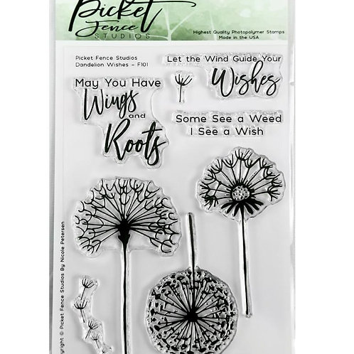 Dandelion Wishes Picket Fence stamps