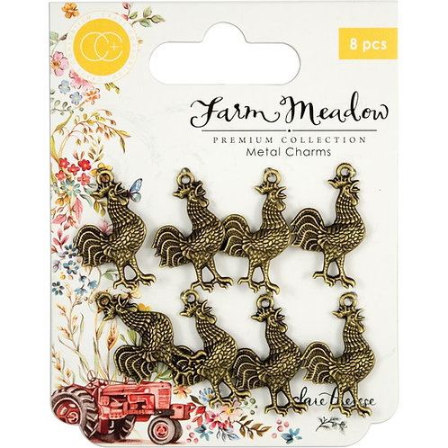Farm Meadow Rooster Charms