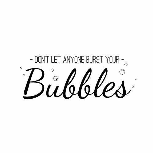 Bubbles Cling Rubber Stamp