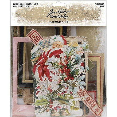 Tim Holtz Christmas Layers and Baseboard Frames