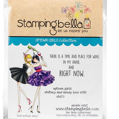 Stamping Bella Stamps Whitney and Wendy Love Wine