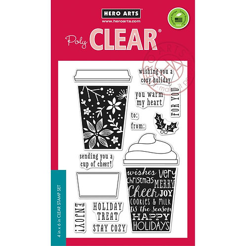Coffee Cup Tags Clear Stamp Set