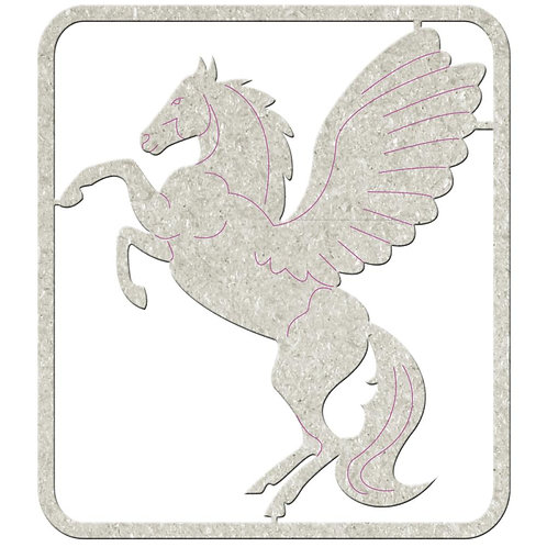 Chipboard, Pegasus Horse With Wings